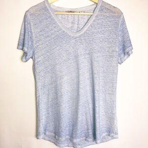 🛍 Vineyard Vines Blue Linen T Shirt Top
